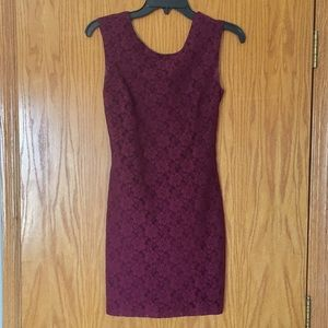 Dark purple fitted dress